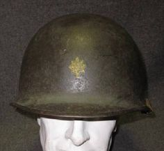 Original WWII WW2 US Army Major's M-1 Helmet Military Antique Collectible