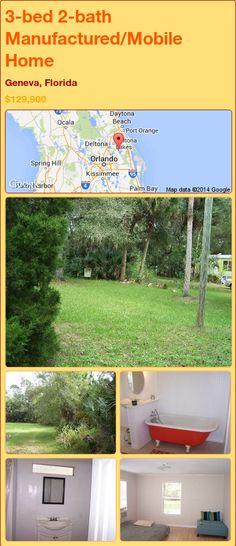 3-bed 2-bath Manufactured/Mobile Home in Geneva, Florida ►$129,900.00 #PropertyForSale #RealEstate #Florida http://florida-magic.com/properties/76571-manufactured-mobile-home-for-sale-in-geneva-florida-with-3-bedroom-2-bathroom