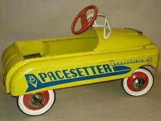 1950's Pacesetter Convertible V8 Pedal Car...Santa brought me this for Christmas 1958