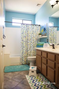 Kids Bathroom Makeover - Fun And Friendly Whales! - The Flight Wife