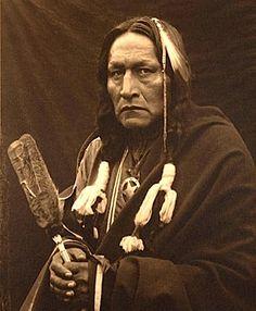 Bro'-ga-hee-ge. Osage. ca. 1900. Photo by Carl Moon