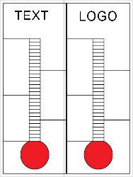 Custom Double Goal Thermometer  Design Custom Goal And