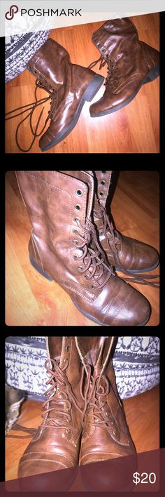 GREAT condition combat boots had for years, still excellent condition. Cute and stylish Shoes Combat & Moto Boots