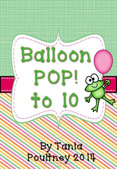 Most Popular Teaching Resources: Counting to 10- Ballon POP! game to 10