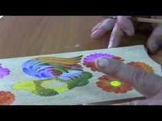 урок Петриковской росписи. простой рисунок сразу кистью - YouTube