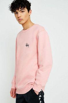 Stussy Basic Dusty Rose Crew Neck Sweatshirt