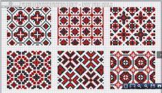 DMC Alphabet de la Brodeuse, c. page All-over patterns, two colors Cross Stitch Borders, Cross Stitch Samplers, Cross Stitch Charts, Cross Stitching, Cross Stitch Patterns, Hardanger Embroidery, Cross Stitch Embroidery, Needlepoint Patterns, Embroidery Patterns