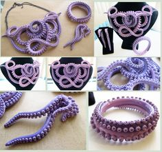 Violet Tentacle Set by KTOctopus on deviantART