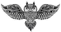 Coruja em estilo tribal para mascote ou tatuagem — Ilustração de Stock #71171515