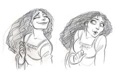 """Mother Gothel in """"Tangled"""" - cosmoanimato Tangled Concept Art, Disney Concept Art, Character Drawing, Character Concept, 3d Character, Character Ideas, Tangled Mother Gothel, Disney Tangled, Disney Pixar"""
