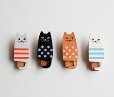 Miranda Wooden Cat clothespin set by Anticca (via design*sponge)