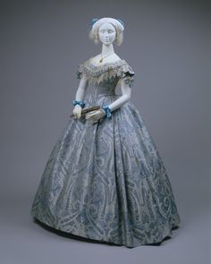 Dress (Ball Gown)  Date: ca. 1860  Culture: American (probably)  Medium: silk, cotton