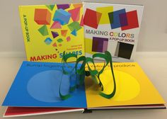 "Introduce shape and color theory to your little ones with two great pop-ups from Tango Books! ""Making Shapes"" and ""Making Colors"" use vibrant, three-dimensional design to teach basic geometry and color mixing. Available now in the Museum Shop for $19.95 each ($17.96, members of the Friends)."