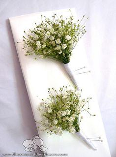 babys-breath-buttonholes by Blossom Wedding Flowers, via Flickr