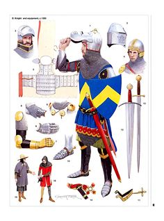 Knight and Equipment c.1350