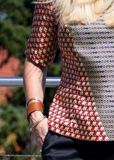 silk top Made by leather bracelet Hermès, golden bracelets, pants Renè Lezard Silk Top, Fingerless Gloves, Arm Warmers, Hermes, Bell Sleeve Top, T Shirt, Pants, Leather, Outfits