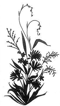 Wild Herbs Wildflowers Plants Flora Silhouette Vector