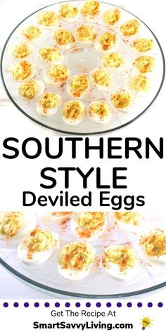 Southern Style Deviled Eggs Recipe – A super easy take on the traditional Southern Deviled Eggs. Always one of the first things to go at any party! Doesn't use vinegar so you won't have a soupy mess. Plus get my tip for mess-free filling of the eggs. Easter Deviled Eggs, Bacon Deviled Eggs, Easter Recipes, Holiday Recipes, Bacon Recipes, Cooking Recipes, Cake Recipes, Cooking Ideas, Perfect Deviled Eggs