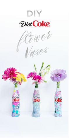 There's always room for more beauty around the house. Add a pop of color to yo. Coke Can Crafts, Homemade Kids Gifts, Color Me Mine, Diet Coke, Birthday Gifts, Birthday Ideas, Diy Flower, Flower Vases, Valentine Gifts