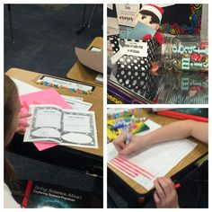 Kindness elf in action! Students worked on journals and made a holiday card for a veteran