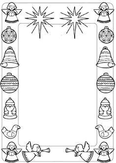 Letterine di Natale da stampare - Letterina di Natale da stampare con angioletti
