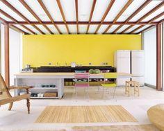 New kitchen yellow walls beams 17 Ideas