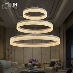 LED Pendant Lights Modern Round Lamp Light for Living Room Pendelleuchte Lustres 3 Rings Restaurant LED Pendant Lamp Fixture * Be sure to check out this awesome product.