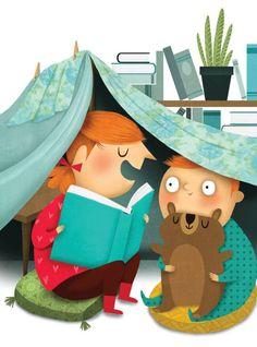 Una cabaña para contar cuentos (ilustración de Marie-Eve Tremblay)