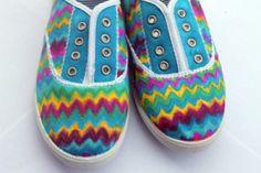Sharpie - Chevron Shoes - DIY Craft Project Instructions