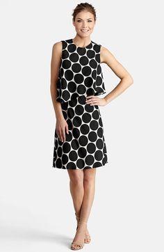 Donna Morgan Polka Dot Popover Crop Dress available at #Nordstrom