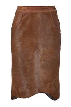Missoni Natural Brown Haircalf Pencil Skirt - Upscale Western Style