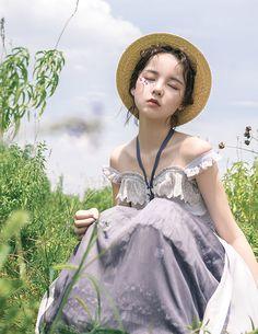 Jewelry Gothic Jewelry in Sunrise -Days to Remember- Vintage Classic Lolita Jumper Dress - Mori Girl Fashion, Lolita Fashion, Cute Fashion, Womens Fashion, Fashion Fashion, Wow Art, Flower Fashion, Lolita Dress, Ulzzang Girl