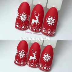 Here is a tutorial for an interesting Christmas nail art Silver glitter on a white background – a very elegant idea to welcome Christmas with style Decoration in a light garland for your Christmas nails Materials and tools needed: base… Continue Reading → Xmas Nail Art, Cute Christmas Nails, Christmas Manicure, Xmas Nails, Christmas Nail Art Designs, Winter Nail Art, Holiday Nails, Winter Nails, Christmas Christmas