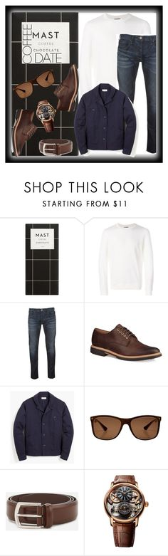 """Nicholas the Great's coffee date style with Empress Catherine #604"" by imperialfamilyfans ❤ liked on Polyvore featuring A.P.C., Armani Jeans, UGG, J.Crew, Stefano Ricci, J.W. Anderson, Audemars Piguet, men's fashion, menswear and CoffeeDate"