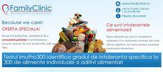 OFERTA SPECIALA!   Numai la FamilyClinic, beneficiezi de o consultatie gratuita la achizitionarea oricarei variante de test (ImuPro100, 200 sau 300).     http://www.familyclinic.ro/imupro300/