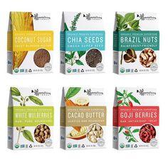 """Organic Superfood Branding : """"healthy food packaging"""""""