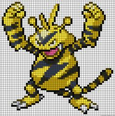 Electabuzz Pokemon perler bead pattern