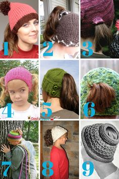 Accidental Genius + 9 Ponytail Free Knit Hat Patterns - Stitch and Unwind Loom Knitting, Knitting Patterns Free, Free Knitting, Crochet Patterns, Hat Patterns, Ponytail Hat Knitting Pattern, Free Pattern, Knit Or Crochet, Crochet Hats