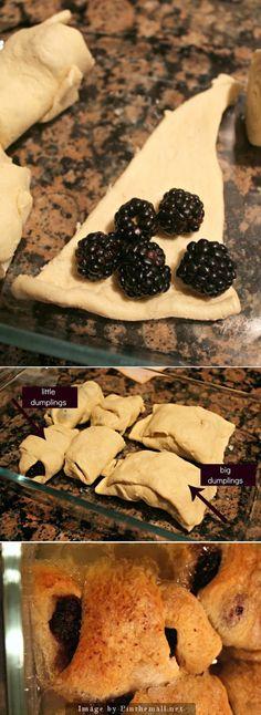 Blackberry Dumpling Dessert Recipe