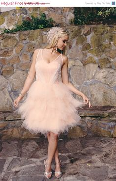 ON SALE Carrie   Short Wedding Dress by TheLittleWhiteDress, $373.50