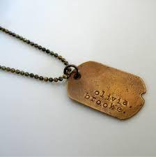 Customized stylish dog tag pendant necklace