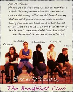 Catcher In The Rye Essay Thesis The Breakfast Club Letter  One Of My Favourite S Films Breakfast Club  Letter English Essay Book also Argumentative Essay High School  Best The Breakfast Club Images  S Movies The Breakfast Club  English Sample Essays