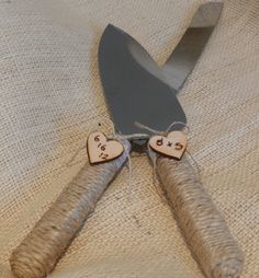 Rustic Wedding, Country Wedding Cake slicer/server, found these on etsy but im convinced I can make them myself!