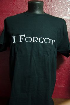 """Harry Potter inspired Shirt, Men's Adult T-Shirt, """"I Forgot"""" Harry Potter/Ginny Weasley Ship/Bride and Groom inspired shirt by TheElliottsCloset on Etsy"""