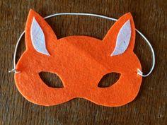 fox mask, no sew fox mask, felt fox mask, felt mask, how to make a ...