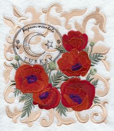 RP: Machine Embroidery: Poppies from Turkey