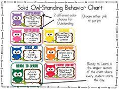 OWL-Standing Behavior Chart!