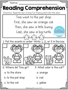 FREE Nursery Sequencing Reading Comprehension Passages Best reading comprehension passages with pictures for beginners in kindergarten and first grade. These reading comprehension activities are perfect for ESL / ELL students and special schools. First Grade Reading Comprehension, Picture Comprehension, Reading Fluency, Reading Passages, Teaching Reading, Reading Strategies, Guided Reading Activities, Comprehension Strategies, Reading Response