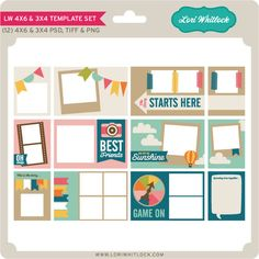 Snap Click Supply Co. - 4x6 and 3x4 Template Set, $1.00 (http://www.snapclicksupply.com/4x6-and-3x4-template-set/)