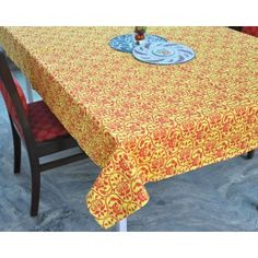 Bright Bold printed Table cover #tablecovers #tablecoversonline